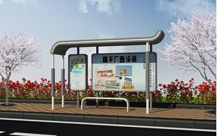 广告乡镇公交站牌