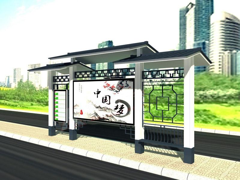 公交站台仿古瓦